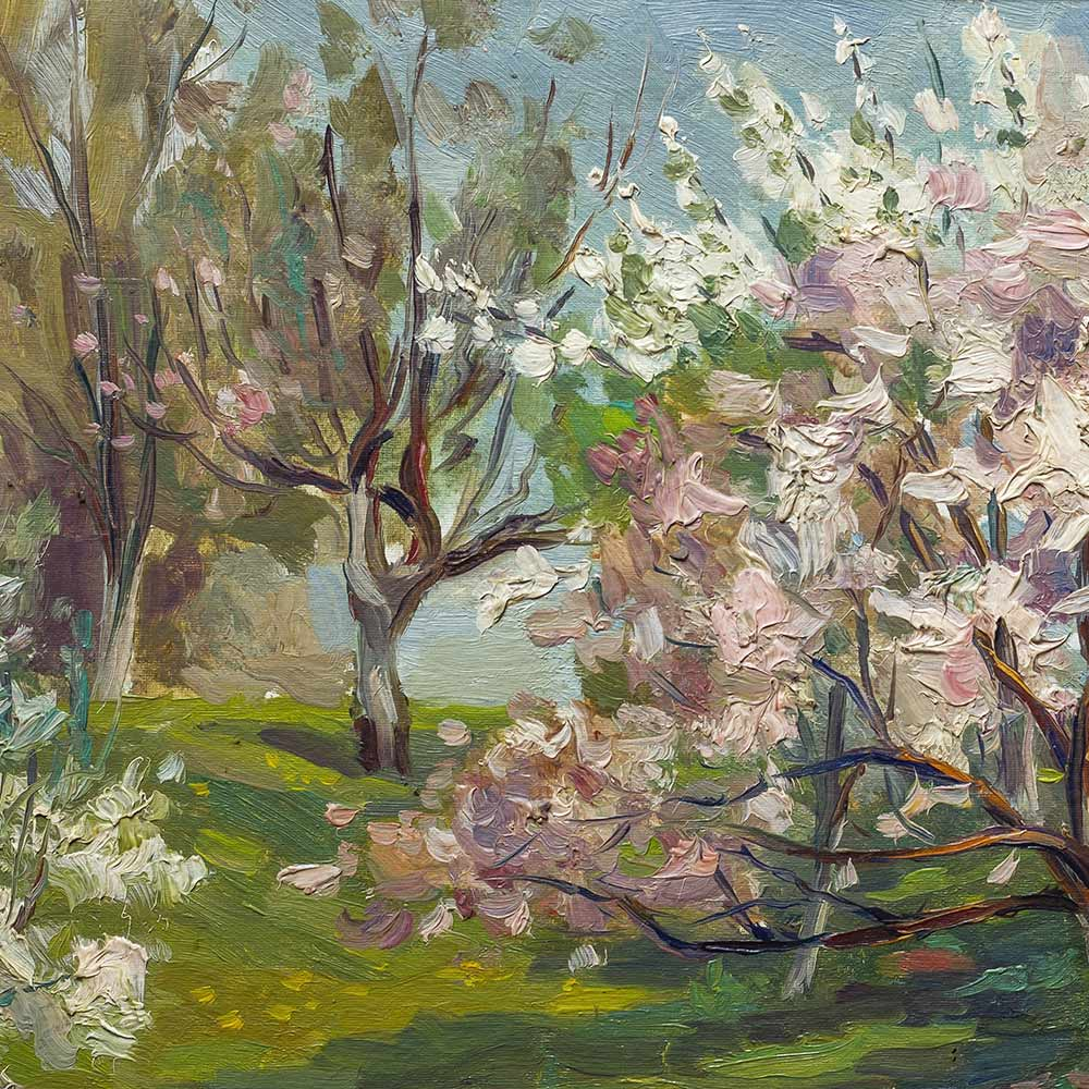 The Orchard – British Pastel Painting