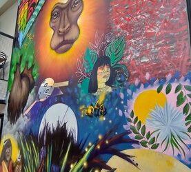 Painel coletivo da ZIV é portal para o mundo amazônico
